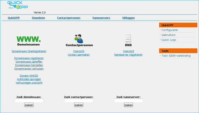 Screenshot quickepp v2